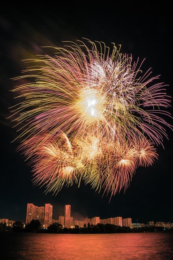 Fogos de artifício da cor de maio fotos de stock royalty free