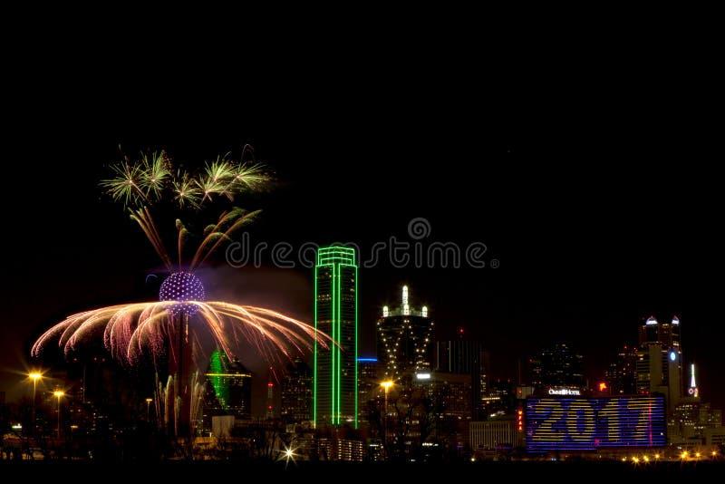 Fogos-de-artifício - Dallas Texas foto de stock