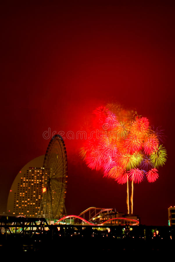 Fogos-de-artifício de Colorfull fotografia de stock