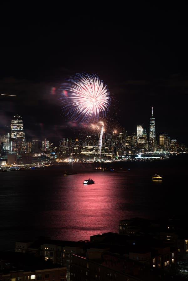 Fogos-de-artifício de New York fotos de stock