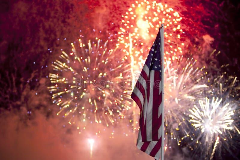 Fogos-de-artifício do Dia da Independência fotografia de stock