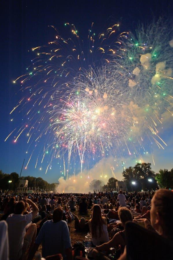 Fogos-de-artifício do Dia da Independência fotos de stock royalty free