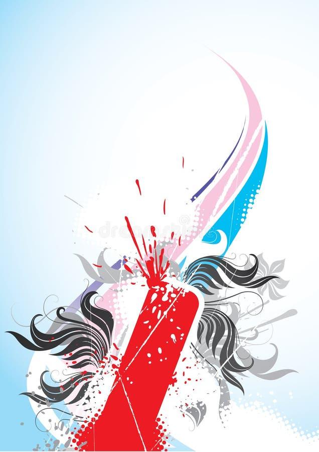 Fogos-de-artifício e projeto da cor ilustração stock