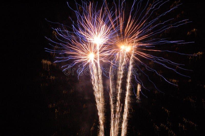 Fogos-de-artifício elétricos fotografia de stock royalty free