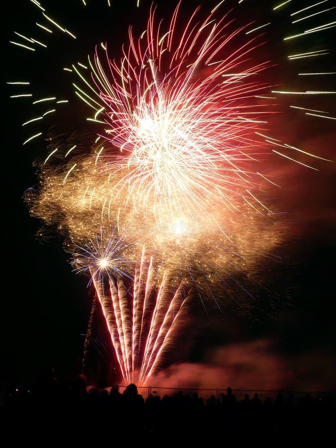 Fogos-de-artifício Em Barkingside Imagem de Stock Royalty Free