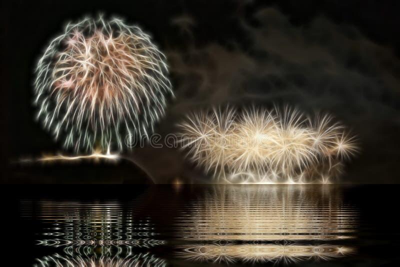 Fogos-de-artifício em Budapest imagem de stock royalty free