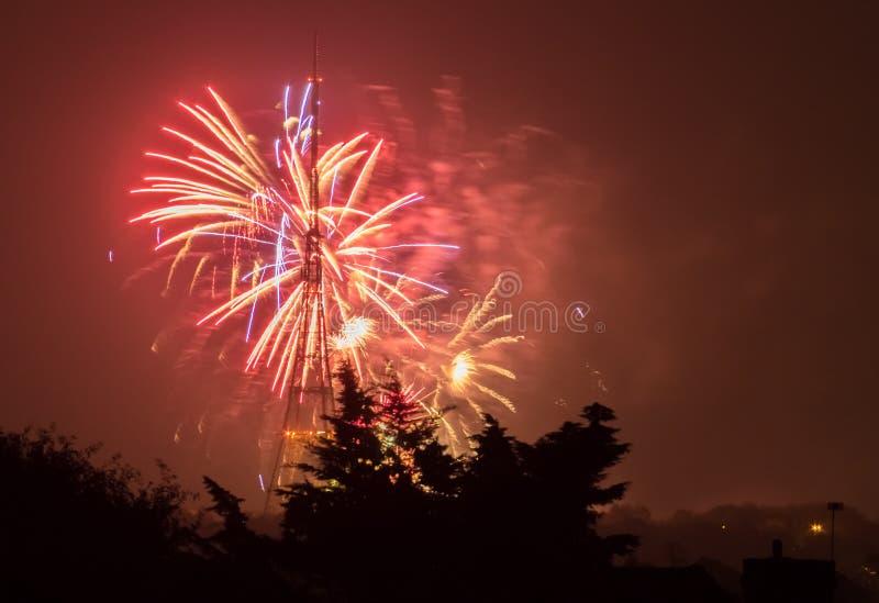 Fogos-de-artifício em Guy Fawkes Night imagem de stock royalty free