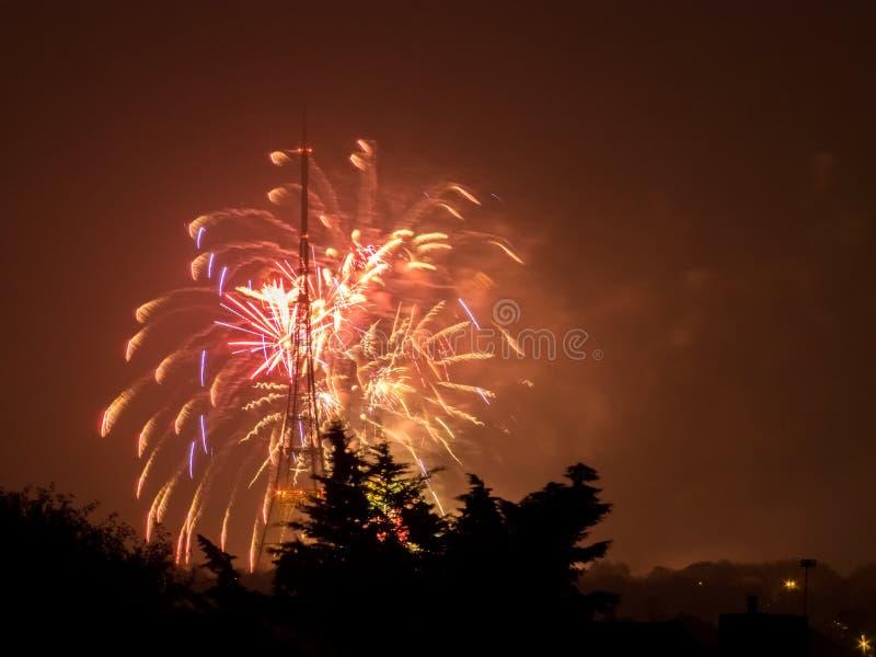 Fogos-de-artifício em Guy Fawkes Night imagens de stock