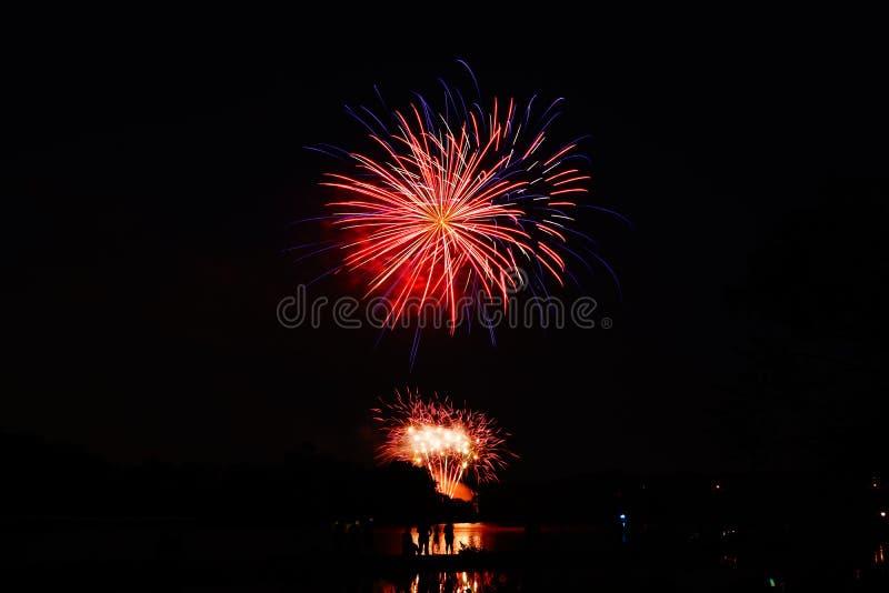 Fogos de artifício em NJ fotografia de stock