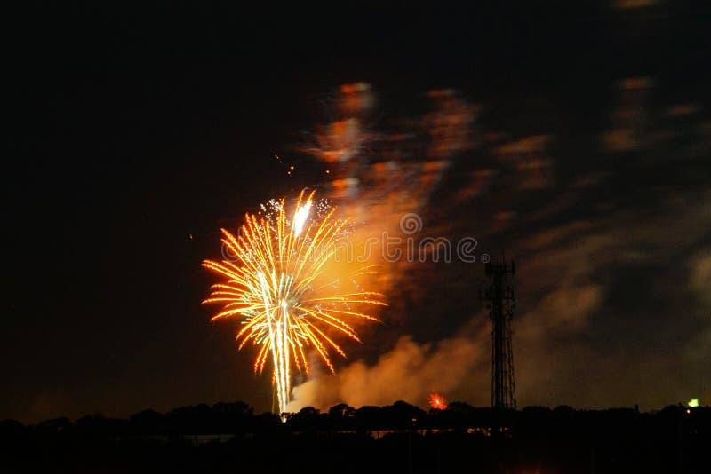Fogos-de-artifício em Tampa imagem de stock