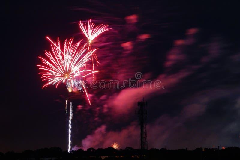Fogos-de-artifício em Tampa imagens de stock