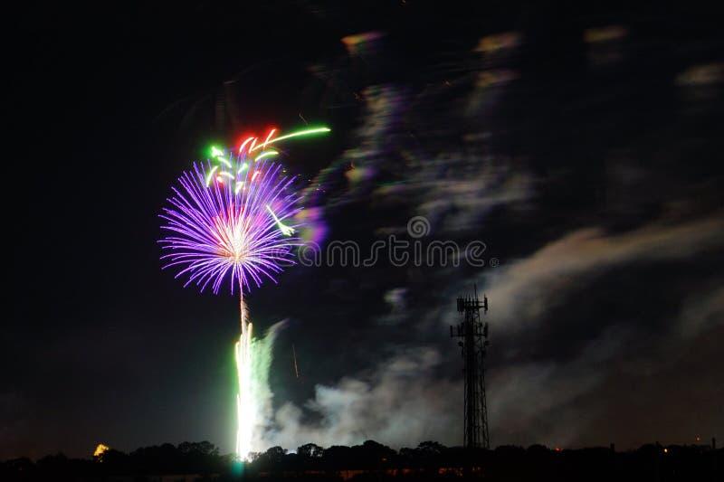 Fogos-de-artifício em Tampa foto de stock