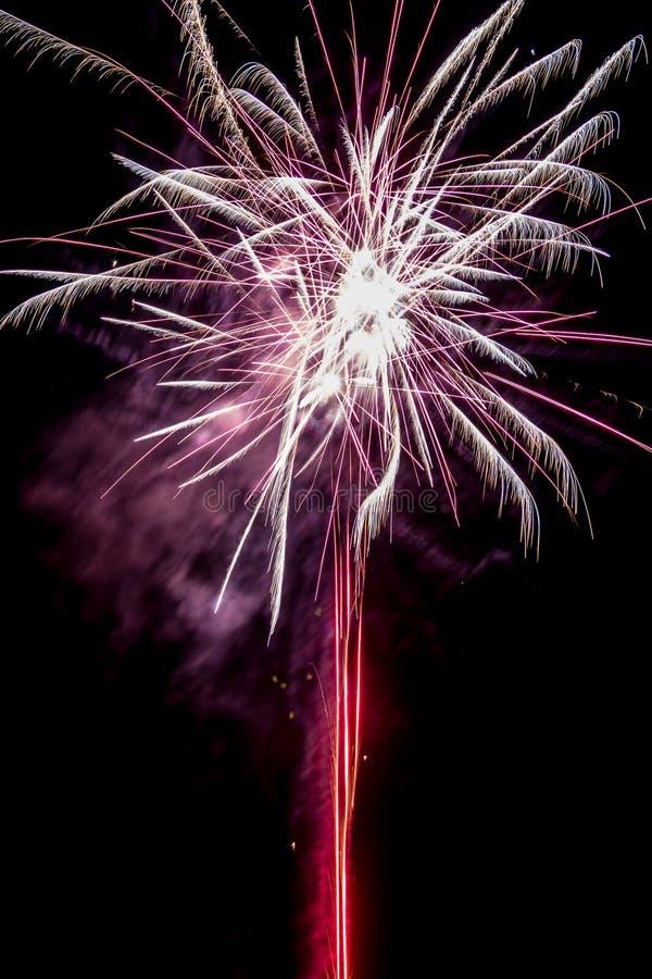 Fogos de artifício festivos populosos foto de stock