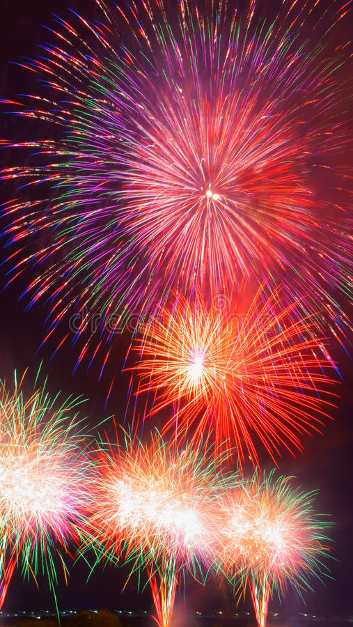 Fogos-de-artifício grandes de Nobi (Noubi) fetival fotos de stock