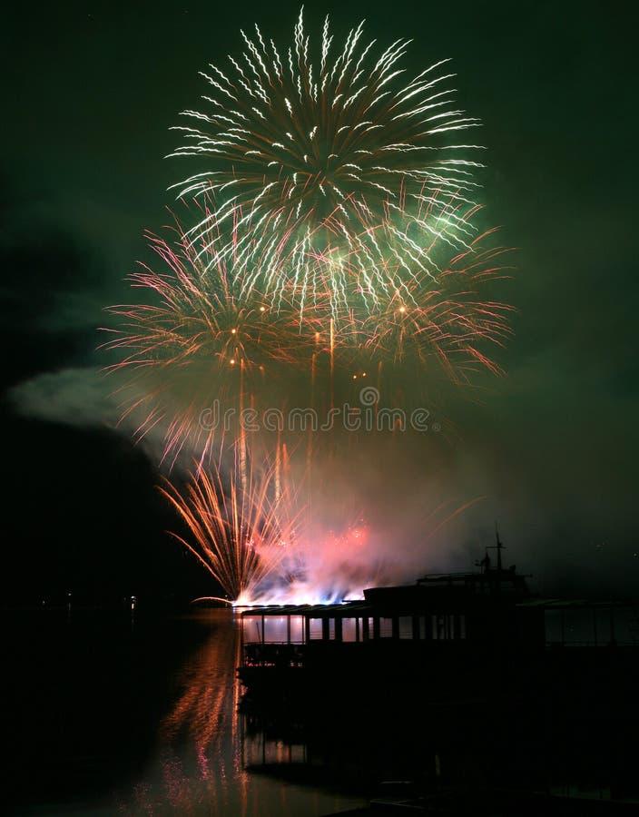 Fogos-de-artifício Ignis Brunensis imagem de stock