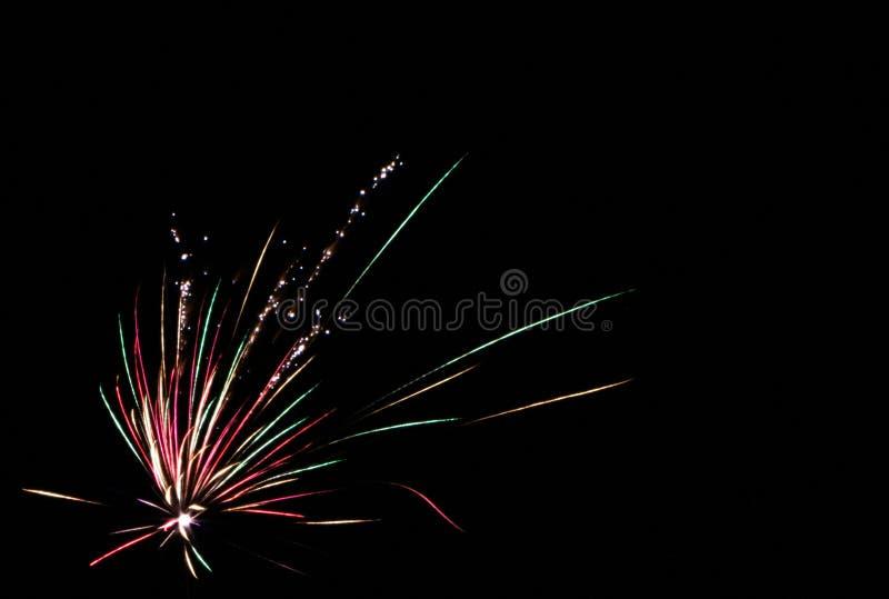 Fogos de artifício, isolados no preto imagens de stock