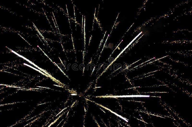 Fogos-de-artifício na noite de Guy Fawkes em Nova Zelândia fotos de stock