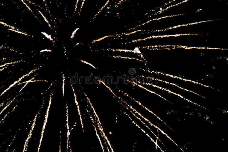 Fogos-de-artifício na noite de Guy Fawkes em Nova Zelândia fotografia de stock