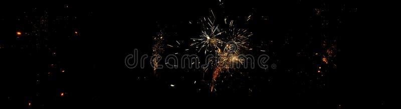 Fogos-de-artifício na noite de Guy Fawkes em Nova Zelândia imagens de stock