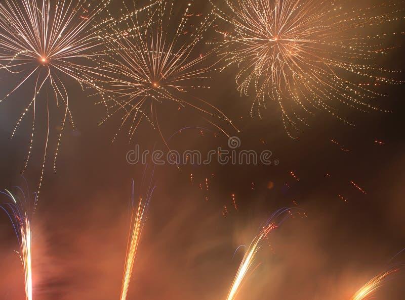 Fogos-de-artifício no ano novo imagem de stock