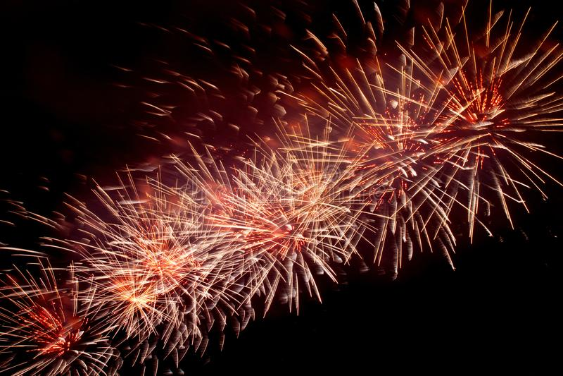 Fogos-de-artifício o céu noturno fotos de stock royalty free