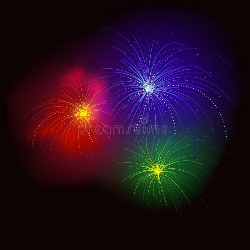 Fogos-de-artifício RGB ilustração do vetor