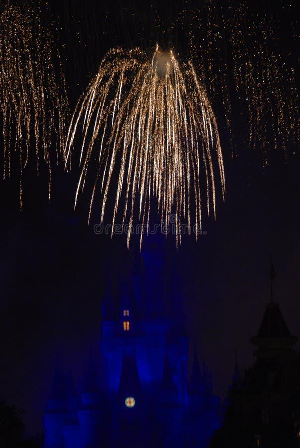 Fogos-de-artifício sobre o mundo Orlando de Disney imagens de stock royalty free