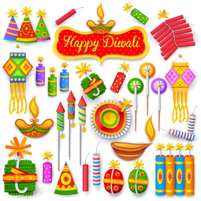 Foguete colorido para o divertimento do feriado de Diwali ilustração royalty free