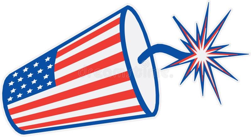 Foguete da bandeira americana imagem de stock