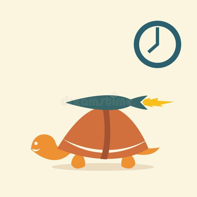 Foguete da tartaruga ilustração stock