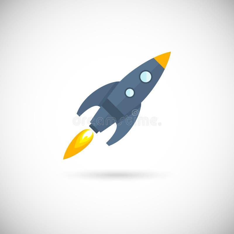 Foguete de espaço dos ícones dos aviões ilustração stock