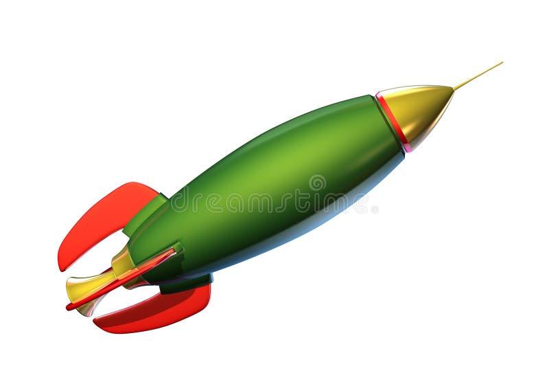 Foguete verde ilustração royalty free