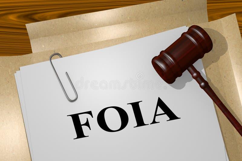 FOIA - Rechtsauffassung stock abbildung