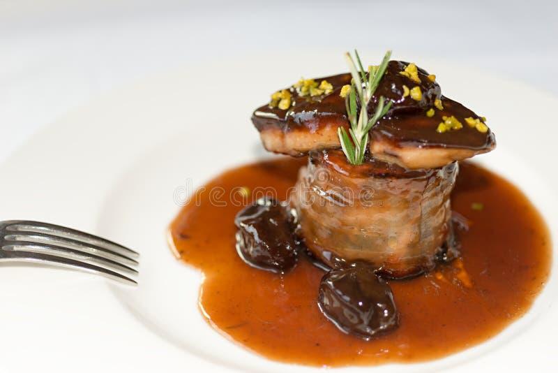 Foie γύρω από την μπριζόλα στοκ φωτογραφία