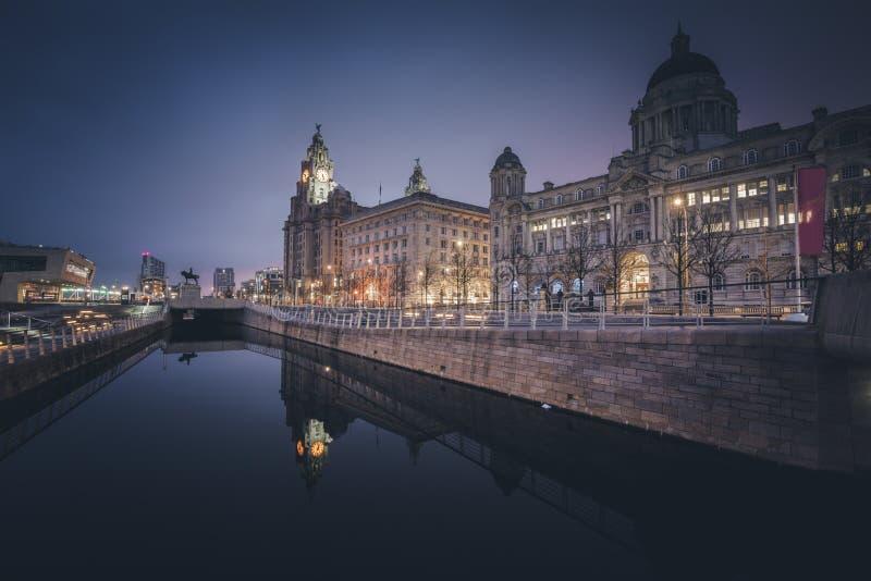 Foie et port royaux des b?timents de Liverpool images stock