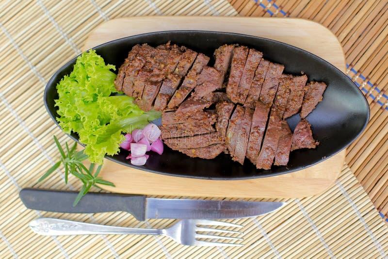 Foie frit de porc photo libre de droits