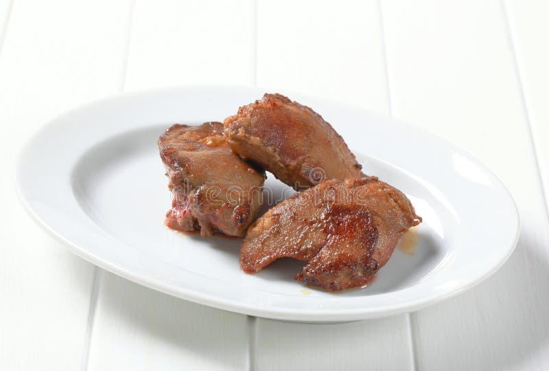 Foie frit par carter photographie stock