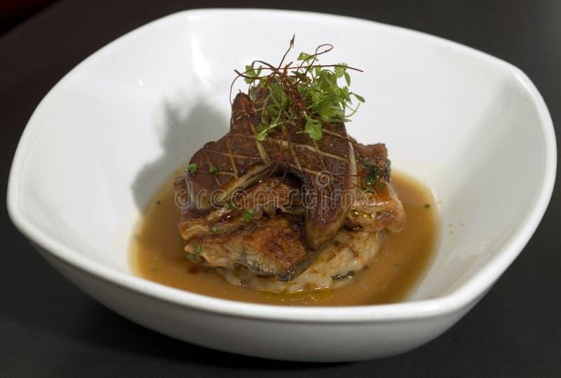 Foie Gras über Speck 2 stockfoto