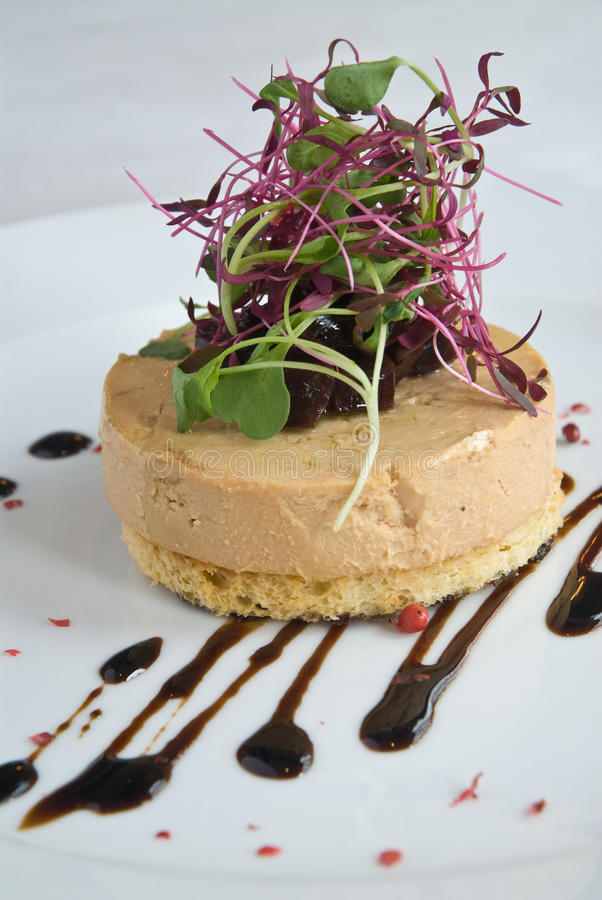 Foie gras Aperitif stockbild