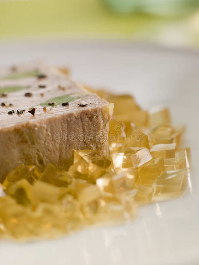 Download Foie Gras And Baby Leeks With Sauternes Jelly Stock Photo - Image: 5625038