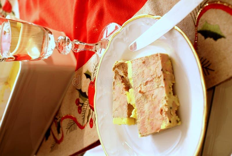 Foie gras entrée. A traditional French first course of foie gras stock images