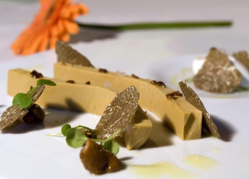 Foie gras mit Trüffeln 2 stockfotos
