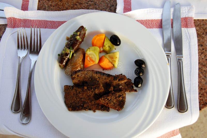 Foie pour le dîner photos stock