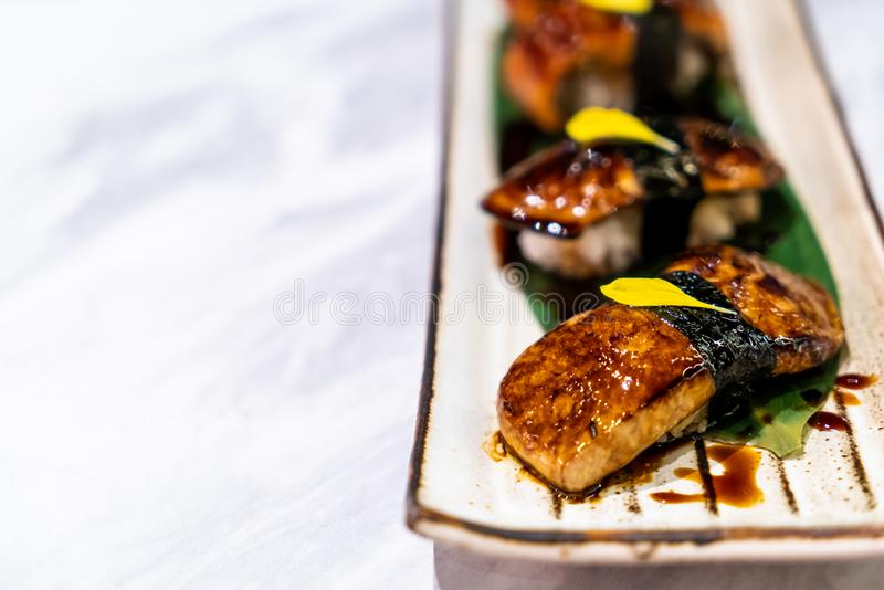foiegrassushi - Japans voedsel royalty-vrije stock foto's