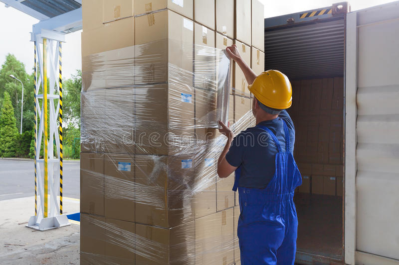 Download Foil on the packages stock photo. Image of pallet, hard - 33431084