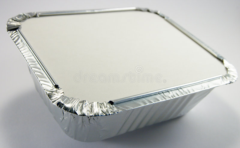 Foil Tray with Lid royalty free stock photos