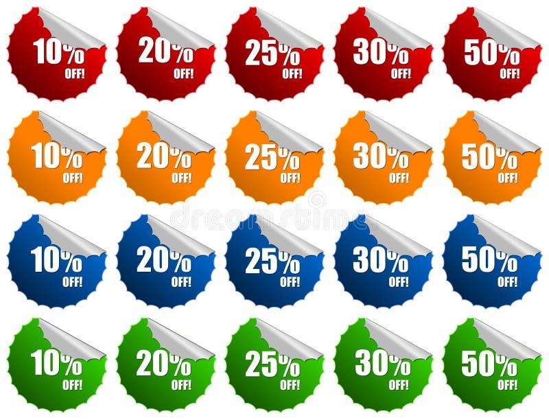 Foils Sticker discount label stock image