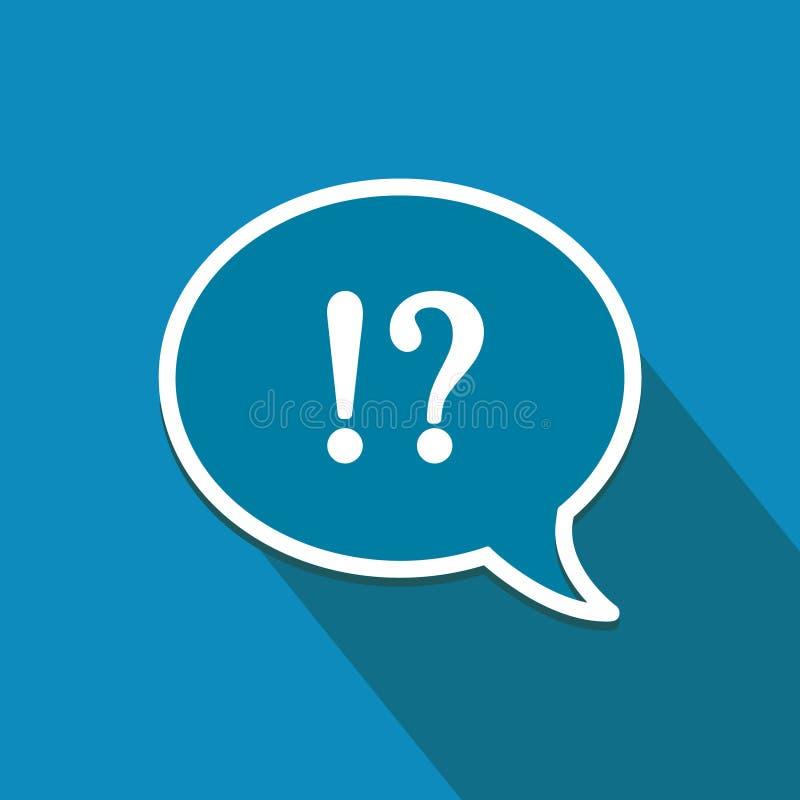 Foire aux questions ! Icône plate Fond pour une carte d'invitation ou une félicitation illustration libre de droits