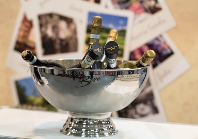 Foire commerciale ENOEXPO de vin international à Cracovie images libres de droits