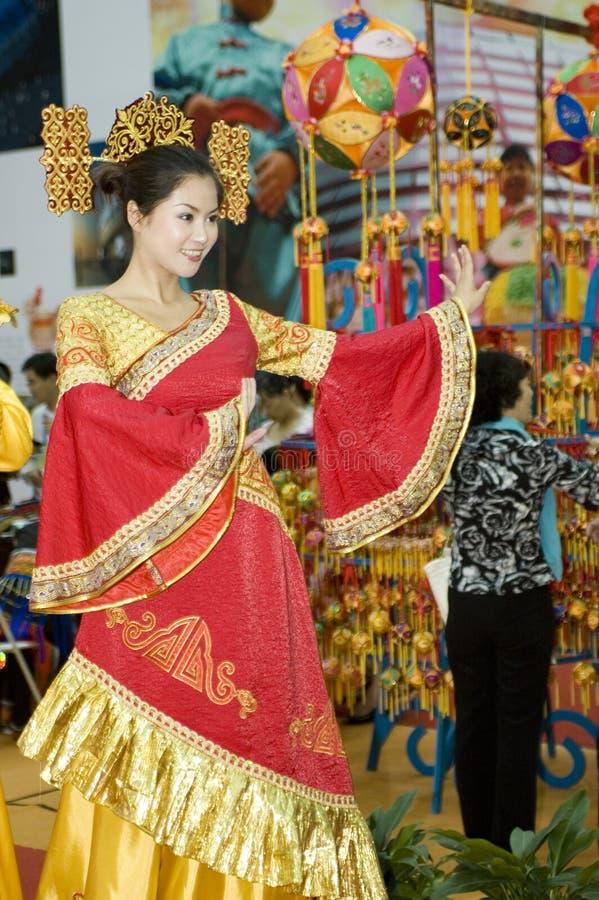 Foire culturelle de la Chine - danseur de Guangxi photos libres de droits